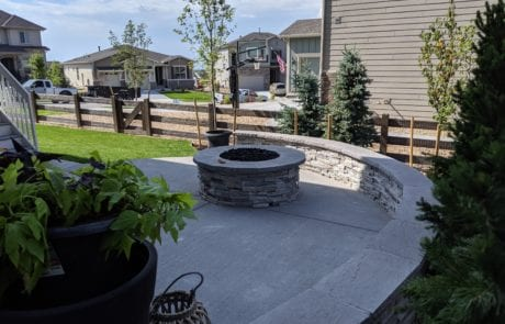 New Firepit with Patio